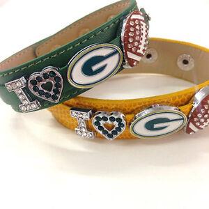 I Love Green Bay Packers Rhinestone Bracelet / Green Bay Packer Fans