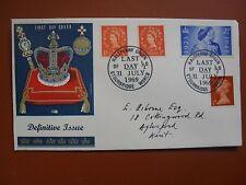 FDC 31st de Julio de 1969, último día de Naranja Half-Penny defs. dirigida + RSW 1948.