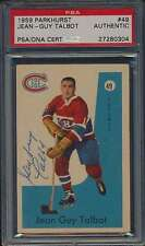1959 Parkhurst #49 Jean-Guy Talbot Autographed PSA/DNA Certified Authentic 41572