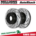 Front Drilled Slotted Disc Brake Rotors Pair 2 for Cadillac Seville CTS STS 4.6L  for sale