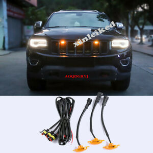 For Jeep Grand Cherokee 2011-2019 Car Grille LED Light Raptor Style Grill W/wire