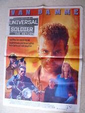 VAN DAMME -UNIVERSAL SOLDIER THE RETURN .   original ASIAN  CINEMA  poster
