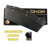 OKDA Car Seat Organizer PLUS Gecko-Grip Anti-Slip Dashboard Mat. Organize Pho...