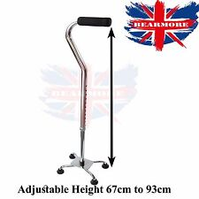 Health-care Tetrapod Walking Stick with Small 4 Leg Base Soft Hand Grip