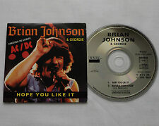 Brian JOHNSON & GEORDIE Hope you like it RARE FRENCH 2 tks cardsleeve CD - AC/DC