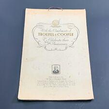VINTAGE 1930 TROEDEL & COOPER PRINTERS PORT MELBOURNE 75TH ANNIV. CALENDAR