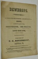 C C Nordendorf / CONFEDERATE IMPRINT SHEET MUSIC DEWDROPS COLLECTION #287272