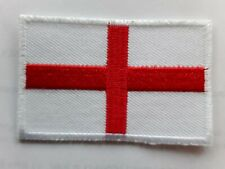 ENGLAND ST GEORGE'S RED CROSS FLAG FOOTBALL RUGBY EMBROIDERED PATCH UK SELLER
