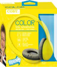 Coby Cvh-821-Ylw Color Kids Stereo Headphones W/Mi Headphone
