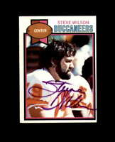 Steve Wilson Hand Signed 1979 Topps Tampa Bay Buccaneers Autograph