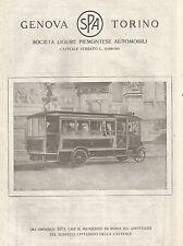 W7503 Società Ligure Piemontese Automobili - Omnibus - Pubblicità del 1920 - Ad