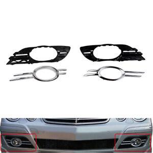 Front Fog Light Grill Chrome Trim Cover Set For Mercedes-Benz E-CLASS W211 07-09