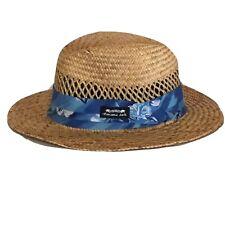 Panama Jack Hat Straw LG Blue Sun Blocker Summer Beach