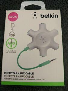 Belkin RockStar 5-Jack 3.5mm Multi Headphone Audio Splitter White/Green