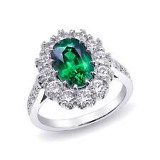 Natural Tsavorite 3.20 carats set in Platinum Ring