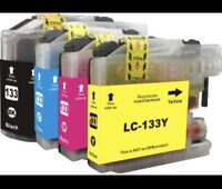 1 set, 4x LC133 LC-133XL ink cartridges for Brother MFC J4510 J4710 J6920 J870DW