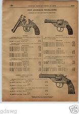 1913 PAPER AD Hopkins & Allen Iver Johnson Revolver 22 Caliber Target Pistol