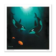 """Wyland """"In the Company of Orcas"""" Signed Limited Edition Giclee on Canvas w/ COA"""