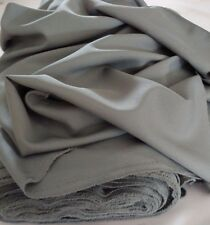 """Grey  Gabardine Polyester 60"""" wide by yard. Free swatches. Available by rolls"""
