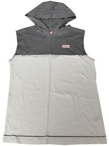 NWT HUNTER For Target Boy's Gray White Hooded Sleeveless Top Size Large 12/14