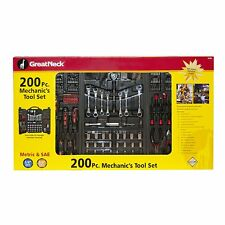 NEW GREAT NECK TK200 TOOL SET 200 PC MECHANICS TOOL SET AND CARRY CASE SALE