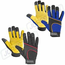 Mechanics Work Gloves Cow Leather Washable M Xl