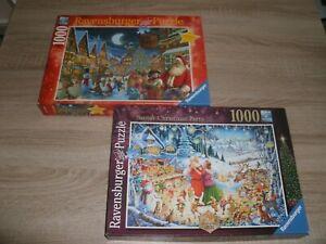 2 x Ravensburger Weihnachten je 1000 Teile komplett in OVP
