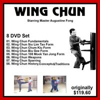 WING CHUN KUNG FU training 8 DVD set Augustine Fong panther productions jkd fist