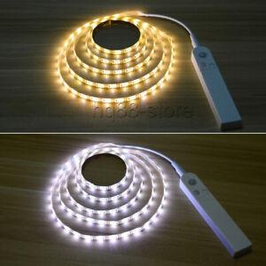 PIR Motion Sensor LED Strip Light Battery Powered Stairs Cabinet Closet HomeLamp