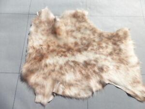 sheepskin leather hide Auburn & Cream Spotted Silky Toscana w/White Suede back