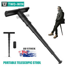 Portable Telescopic Stool Outdoor Subway Hiking Camping Folable Seat Chair Rod