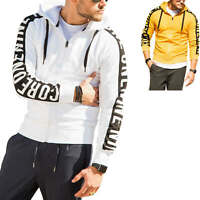 Jack & Jones Herren Sweatjacke mit Print Hoodie Sweatshirt Leichte Jacke