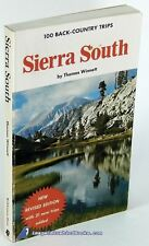 Sierra South: 100 Back-Country Trips by Thomas WINNETT: VG+ softcover 79640