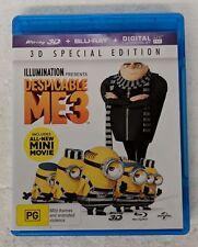 DESPICABLE ME 3 - 3D + 2D Blu-ray 2-DISC Region A B C oz seller