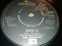 """PAUL McCARTNEY * COMING UP * 7"""" SINGLE PARLOPHONE EXCELLENT 1980"""