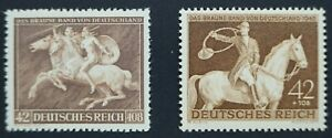 Germany Third Reich Brown Ribbon of Germany  1941 and 1943 MUH
