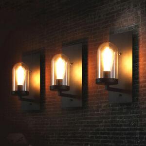 Indoor Wall Lights Kitchen Wall Lamp Bar Wall Sconce Black Glass Wall Lighting