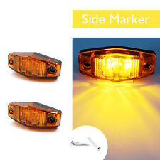 2 x Amber LED Indicator Clearance Side Marker Light For Car Lorry Truck Trailer