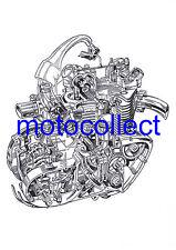 TRIUMPH unit 350 / 500 Engine..Cutaway Drawing..A3 420mm x 300mm..Free Postage