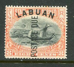 LABUAN....   Postage Due  1901  8c canoe, SgD5   mint