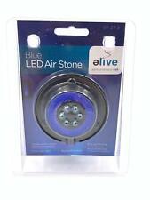 Elive Aquarium Fish Tank Blue LED Air Stone Bubble Bubbler Suction Cup