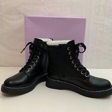 Madden Girl Womens NIB Kurrt Combat Black Boots Size 8