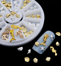 Nail Art 3D Charms, Gold/Silver Seaside Shapes, Shells, Mermaid, Starfish, New