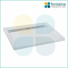 Quad White Gloss Polymarble Shower Base 1200 Stainless Steel Grill Grate