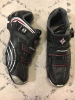 Specialized Motodiva Women's Cycling Shoes Body Geometry Sz 10.5 Black Silver B9
