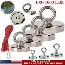 Upto 1000lbs Fishing Magnet Kit Strong Neodymium Pull Force With Ropeampcarabiner