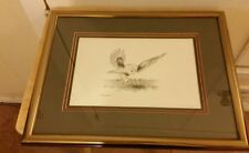 "Artist Leroy Crapo Signed Framed ""The Hunter"" 5/500 Drawing."