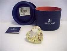 SWAROVSKI SCS 2004 ANNA YELLOW HEART EVENT EXCLUSIVE RETIRED 662036 NIB COA