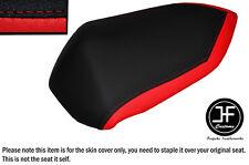 DESIGN 2 RED & BLACK VINYL CUSTOM FITS KAWASAKI Z 750 07-12 REAR SEAT COVER ONLY