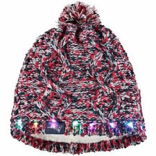 19d2f08ffbb36 Size  One Size. New England Patriots Chunky Knit Light Up Beanie Winter Hat  Toque Pom Women s